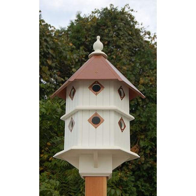 Chateau Bird House with Hammered Copper Colored Metal Roof - BirdHousesAndBaths.com