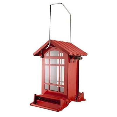 Red Chateau Weight Sensitive Squirrel Resistant Bird Feeder