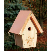 Chickadee & Wren House with CopperTop - BirdHousesAndBaths.com