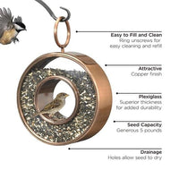 Circle Fly-Thru Bird Feeder - BirdHousesAndBaths.com