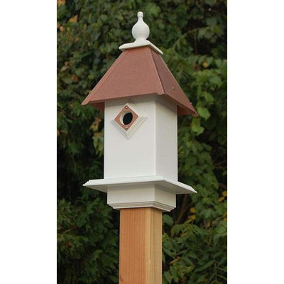 Classic Bluebird House with Hammered Copper Colored Metal Roof - BirdHousesAndBaths.com