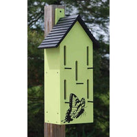 Classic Butterfly House with Perches, Green - BirdHousesAndBaths.com
