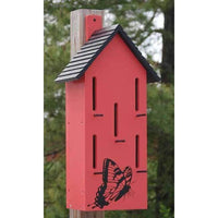 Classic Butterfly House with Perches, Red - BirdHousesAndBaths.com
