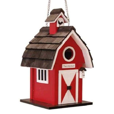 Classic Red Barn Bird House - BirdHousesAndBaths.com