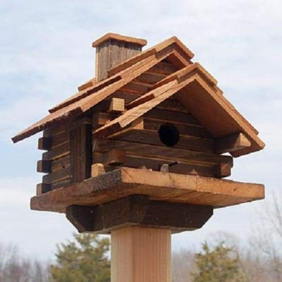 Conestoga Log Cabin Bird House - BirdHousesAndBaths.com
