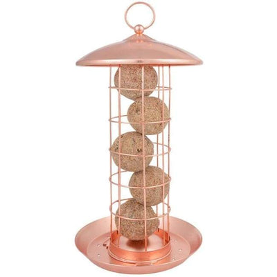 Copper Colored Suet Ball Feeder