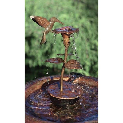 Copper Hummingbird Dripper Fountain - BirdHousesAndBaths.com