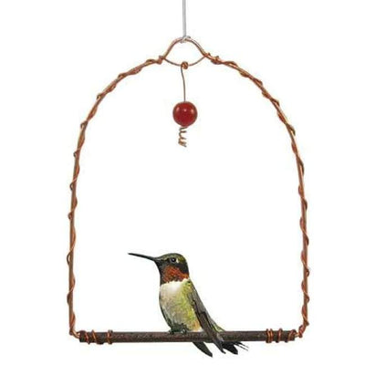 Copper Hummingbird Swing - BirdHousesAndBaths.com