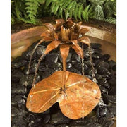 Copper Lotus Dripper Fountain - BirdHousesAndBaths.com