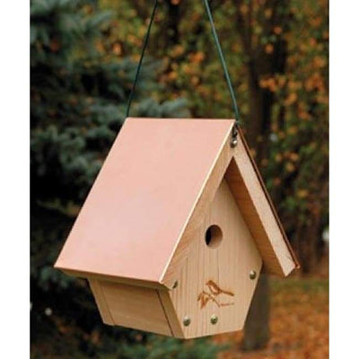 Coppertop Hanging Wren House - BirdHousesAndBaths.com