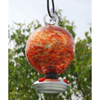 Dew Drop Hummingbird Feeder, Red and Orange Cinnabar - BirdHousesAndBaths.com