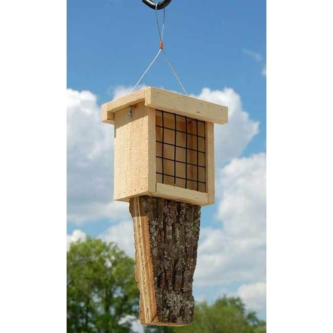 Double Suet Feeder with Tail Prop