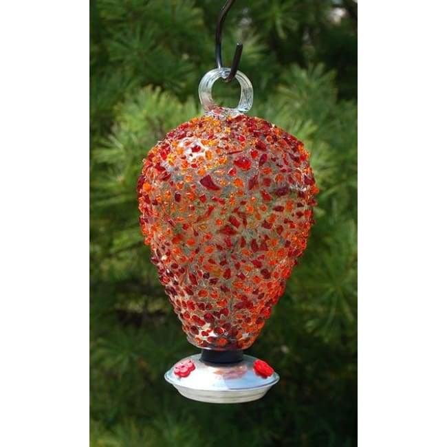 Eighty Days Hummingbird Feeder, Cinnabar Sprinkles - BirdHousesAndBaths.com