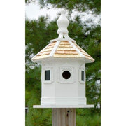 Enchantment White Bird House - BirdHousesAndBaths.com