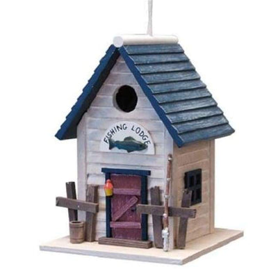 Fishing Lodge Bird House - BirdHousesAndBaths.com