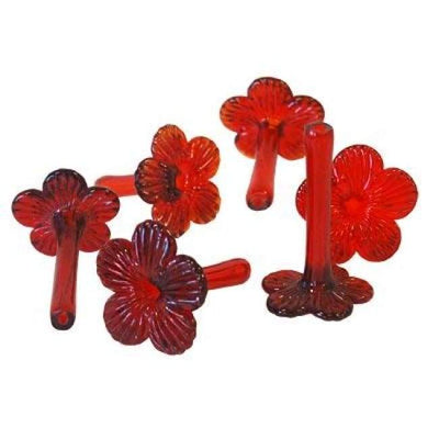 Flower Feeding Tubes, Set of 6 - BirdHousesAndBaths.com