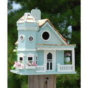 Flower Pot Cottage Blue Bird House - BirdHousesAndBaths.com