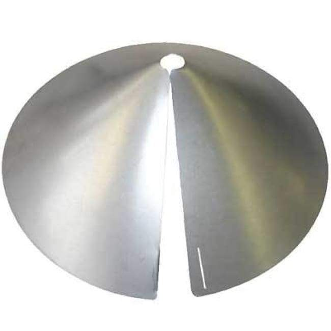Galvanized Wrap-Around Squirrel Baffle - BirdHousesAndBaths.com