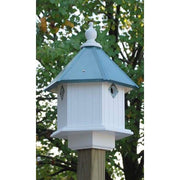 Gardenia Bird House with Verdigris Roof - BirdHousesAndBaths.com