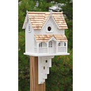 Gingerbread Cottage Bird House with Mounting Bracket - BirdHousesAndBaths.com