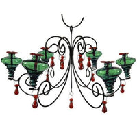 Grand Mini-Blossom Chandelier Green Hummingbird Feeder - BirdHousesAndBaths.com
