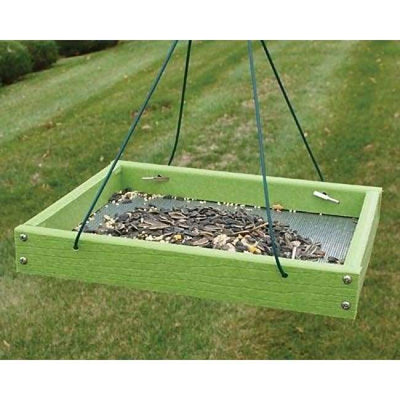 Going Green Hanging Platform Bird Feeder - BirdHousesAndBaths.com