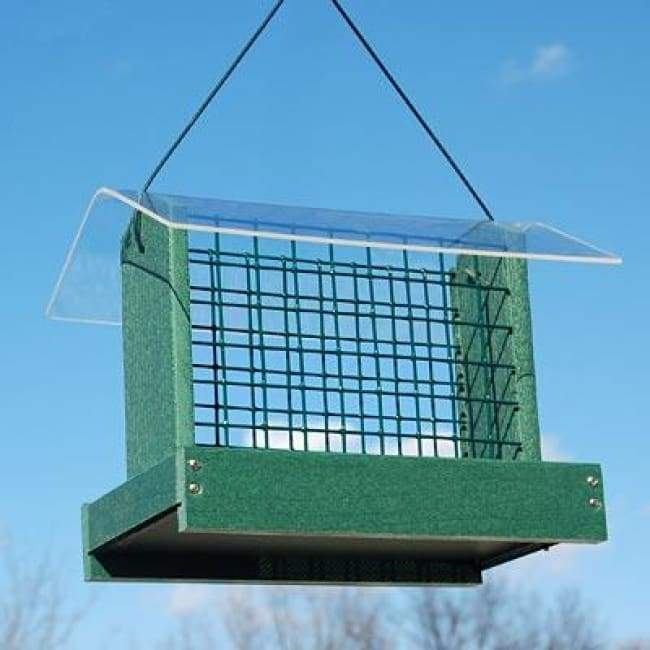 Green Going Green Peanut or Large Suet Cake Feeder