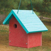 Going Green Sloped Roof Red Wren House - BirdHousesAndBaths.com