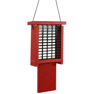 Going Green Red Suet Feeder with Tail Prop