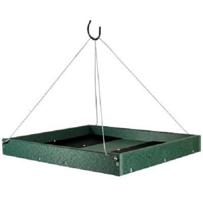 Green Large Hanging Platform Bird Feeder