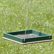 Green and Brown Small Hanging Platform Bird Feeder