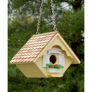 Little Hanging Yellow Wren House - BirdHousesAndBaths.com