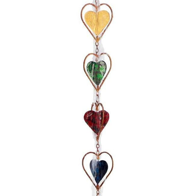 Heart Rain Chain, Multicolored - BirdHousesAndBaths.com