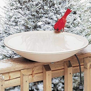 Heated Bird Bath with Deck Mount - BirdHousesAndBaths.com