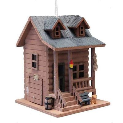 Log Cabin Bird House - BirdHousesAndBaths.com