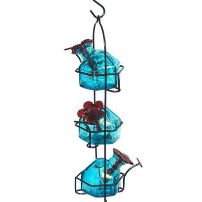 Lunch Pail Aqua Hummingbird Feeder - BirdHousesAndBaths.com
