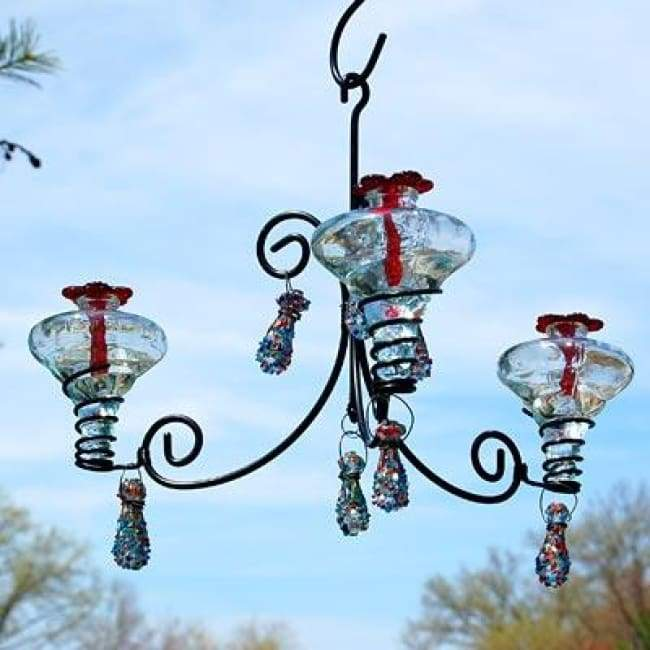 Mini-Blossom Chandelier Hummingbird Feeder, Sprinkles - BirdHousesAndBaths.com
