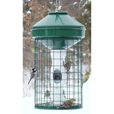 Mixed Seed Caged Bird Feeder - BirdHousesAndBaths.com
