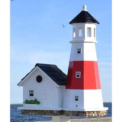 Montauk Point Lighthouse Bird House - BirdHousesAndBaths.com