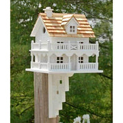 Novelty Cottage Bird House with Bracket - BirdHousesAndBaths.com