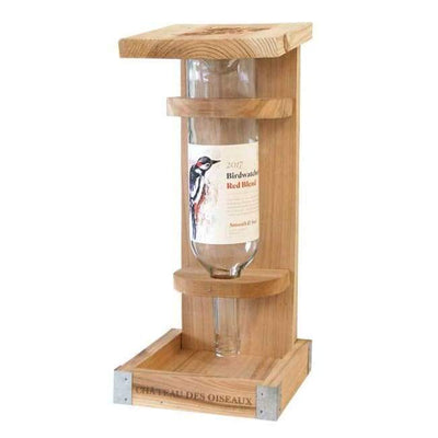 Novelty Wine Bottle Cedar Bird Feeder - BirdHousesAndBaths.com