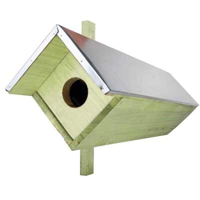 Owl or Kestrel Extended Horizontal House - BirdHousesAndBaths.com