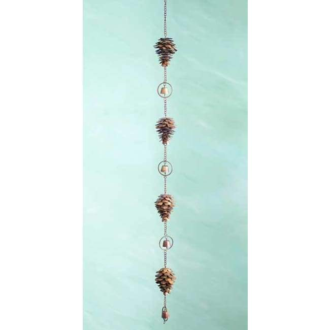 Copper Colored Pine Cone Hanging Chain