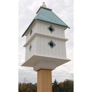 Plantation Bird House with Verdigris Roof - BirdHousesAndBaths.com