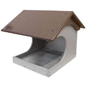 Polywood Brown and Gray Recycled Plastic Cardinal Platform Bird Feeder - BirdHousesAndBaths.com