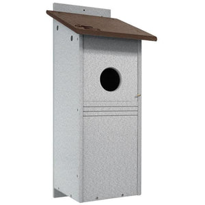 Polywood Brown and Gray Recycled Plastic Flicker House - BirdHousesAndBaths.com