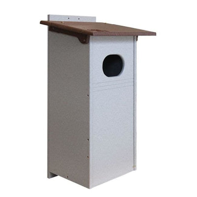 Polywood Brown and Gray Recycled Plastic Wood Duck House
