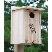 Premium Screech Owl House or Kestrel House - BirdHousesAndBaths.com