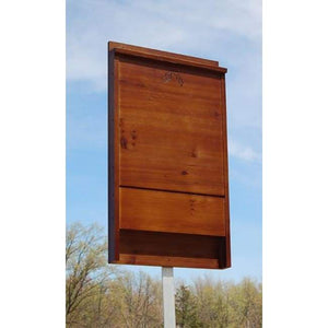 Stained Dark Brown Bat House for 100 Bats