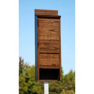 Premium Stained Dark Brown Bat House, 65 bats - BirdHousesAndBaths.com